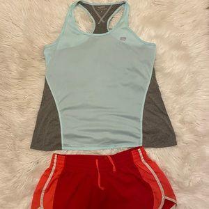 Nike running shorts & Marika tank top